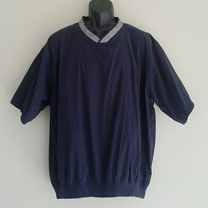 Glen Echo Blue Short Sleeve Golf Windbreaker XL